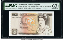 Great Britain Bank of England 10 Pounds ND (1980-84); ND (1987-88) Pick 379b; 379d Two Examples PMG Superb Gem Unc 67 EPQ (2).   HID09801242017  © 202...