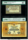 Greece Bank of Greece 50,000 Drachmai 1950 Pick 185a PMG Very Fine 30; Turkey Ministry of Finance 10 Livres 1918 / AH1334 Pick 110x PMG Uncirculated 6...