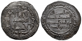 Independent Emirate. Abd Al-Rahman I. Dirham. 157 H. Al-Andalus. (Vives-55). (Miles-48). Ag. 2,54 g. Beautiful dark patina. Choice VF/Almost XF. Est.....