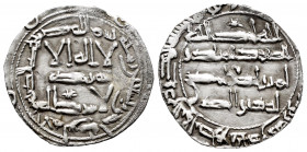 Independent Emirate. Al-Hakam I. Dirham. 191 H. Al-Andalus. (Vives-90). (Miles-82). Ag. 2,02 g. Star in the central legend of the IA. Choice VF. Est.....