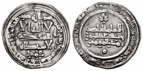 Caliphate of Cordoba. Abd Al-Rahman III. Dirham. 346 H. Madinat al-Zahra. (Vives-429). Ag. 2,73 g. Citing Muhammad in the IA. Choice VF/VF. Est...35,0...