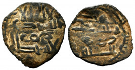 Caliphate of Cordoba. Abd Al-Rahman III. Fals. 306 H. Al-Andalus. (Frochoso-I93/2). Ae. 1,22 g. VF. Est...25,00. 