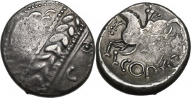 Celtic World. Celtic, Eastern Europe. AR Tetradrachm, Noricum, 2nd century BC. Obv. Head right, laureate. Rev. Horseman left; below, COPO. Lanz 122; G...