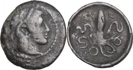 Sicily. Syracuse. Second Democracy (466-405 BC). AR Litra, c. 460-450 BC. Obv. Head of Arethousa right, wearing pearl tainia. Rev. Octopus. HGC 2 1375...