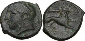 Sicily. Syracuse. Fourth Democracy (c. 289-287 BC). AE 23 mm, c. 289-287 BC. Obv. Head of Herakles left, diademed. Rev. Lion right; above, club. CNS I...