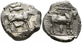 Cyprus. Uncertain mint circa 450 BC. Stater AR