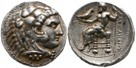 Ptolemaic Kings of Egypt. Tyre. Ptolemy I Soter As satrap, 323-305 BC. In the name and types of Alexander III of Macedon. Dated RY 34 of king Azemilko...