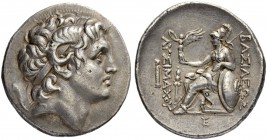 KINGS OF THRACE. Tetradrachm 287/286. Obv. Head of deified Alexander the Great to r. with diadem and ram's horn. Rev. ΒΑΣΙΛΕΩΣ - ΛΥΣΙΜΑΧΟΥ Athena with...