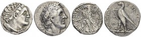PTOLEMAIC KINGDOM. Ptolemy II, 285-246. Tetradrachm Alexandria. Obv. Diademed head of Ptolemy I to r. Rev. ΒΑΣΙΛΛΕΩΣ - ΠΤΟΛΕΜΑΙΟΥ Eagle, with closed w...