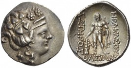 ISLANDS off THRACE, Thasos. Circa 148-90/80 BC. Tetradrachm (Silver, 30mm, 16.57 g 12), a very early imitation. Head of the young Dionysos to right, w...