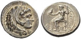 KINGS of MACEDON. Alexander III 'the Great'. 336-323 BC. Tetradrachm (Silver, 27mm, 17.19 g 6), Babylon, c. 325-323. Head of Herakles to right, wearin...