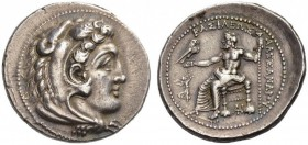 Kings of Macedon. Alexander III 'the Great', 336-323 BC. Tetradrachm (Silver, 30mm, 17.06 g 6), Tarsos, c. 323-317, under Philip III. Head of Herakles...