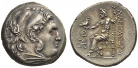 KINGS of MACEDON. Alexander III 'the Great', 336-323 BC. Tetradrachm (Silver, 27mm, 16.96 g 12), Odessus, c. 280-200. Head of Herakles to right, weari...