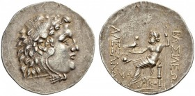 KINGS of MACEDON. Alexander III 'the Great', 336-323 BC. Tetradrachm (Silver, 33mm, 16.58 g 12), Mesembria, c. 175-125. Head of Herakles in lion skin ...
