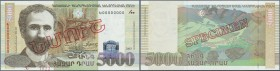 "Armenia: Central Bank of the Republic of Armenia 5000 Dram 2003 SPECIMEN, P.51s, with red overprint ""Specimen"" in Armenian language at center and Spec..."