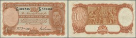 Australia: 10 Shillings ND(1942) P. 25b, creases in paper, condition: VF+.