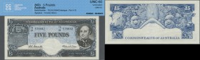 Australia: 5 Pounds ND(1960-65) P. 35 in condition: CCCS graded UNC 60.