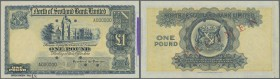 Scotland: North of Scotland Bank Limited 1 Pound ND Specimen P. S644s with cancellation holes and zero serial numbers, vertical folds, stamp at right,...