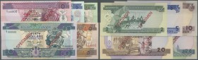 Solomon Islands: complete set of 5 pcs from 2 to 50 Dollars ND P. 18s-22s all Specimen with zero serial numbers in condition: UNC. (5 pcs)