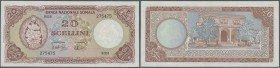 Somalia: 20 Scellini 1971 P. 15a, light vertical fold at right, light handling at right border, condition: XF.