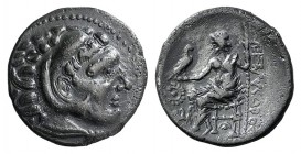 Celtic, Lower Danube, late 4th-3rd century BC. AR Drachm (18mm, 4.09g, 6h). Imitating Alexander III of Macedon. Head of Herakles r., wearing lion skin...