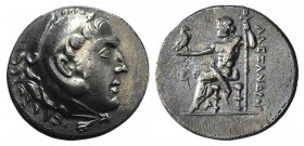 Kings of Macedon, Alexander III 'the Great' (336-323 BC). AR Tetradrachm (31mm, 16.30g, 1h). Uncertain mint (Perge?). Head of Herakles r., wearing lio...