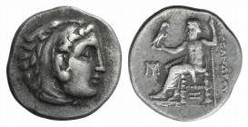 Kings of Macedon, Antigonos I Monophthalmos (Strategos of Asia, 320-306/5 BC, or king, 306/5-301 BC). AR Drachm (18mm, 4.24g, 11h). In the name and ty...