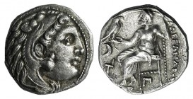 Kings of Macedon, Antigonos I Monophthalmos (Strategos of Asia, 320-306/5 BC, or king, 306/5-301 BC). AR Drachm (15.5mm, 4.24g, 1h). In the name and t...
