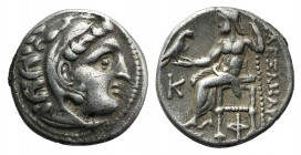 Kings of Macedon, Antigonos I Monophthalmos (Strategos of Asia, 320-306/5 BC, or king, 306/5-301 BC). AR Drachm (18mm, 4.32g, 12h). In the name and ty...