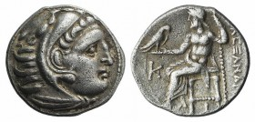 Kings of Macedon, Antigonos I Monophthalmos (Strategos of Asia, 320-306/5 BC, or king, 306/5-301 BC). AR Drachm (18mm, 4.01g, 12h). In the name and ty...