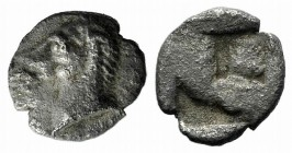 Asia Minor, Uncertain, 5th century BC. AR Tetartemorion (5mm, 0.20g). Horse's head l. R/ Quadripartite incuse square. Cf. Tzamalis 92 (Thraco-Macedoni...