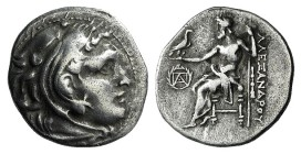 Ionia, Erythrai, c. 290-275 BC. AR Drachm (19.5mm, 4.12g, 11h). In the name and types of Alexander III of Macedon. Head of Herakles r., wearing lion s...