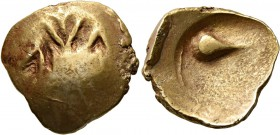 CELTIC, Central Europe. Cotini. 2nd/1st century BC. Stater (Gold, 17 mm, 5.21 g). Geometrical design. Rev. Head of a bird (?) within shallow incuse. D...