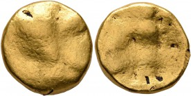 CELTIC, Central Europe. Boii. 2nd century BC. Stater (Gold, 15 mm, 8.27 g), early Athena-Alkis-series. Irrgular bulge (reworked head of Athena die). R...