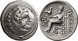 CELTIC, Lower Danube. Uncertain tribe. Circa 2nd century BC. Drachm (Silver, 19 mm, 3.21 g, 12 h). Celticized head of Herakles to right, wearing lion ...