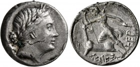 TAURIC CHERSONESOS. Chersonesos. Circa 210-200 BC. Drachm (Subaeratus, 18 mm, 3.94 g, 1 h), Menestra..., magistrate. Laureate head of Artemis to right...