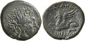 THRACE. Abdera. Circa 240-202 BC. Tetrachalkon (Bronze, 22 mm, 8.52 g, 12 h), Alexander, magistrate. Laureate head of Apollo to right. Rev. [ΕΠI] AΛEΞ...