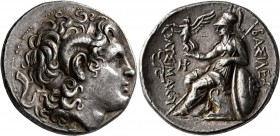KINGS OF THRACE. Lysimachos, 305-281 BC. Tetradrachm (Silver, 29 mm, 17.16 g, 11 h), Lampsakos, circa 297/6-282/1. Diademed head of Alexander the Grea...