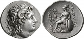 KINGS OF THRACE. Lysimachos, 305-281 BC. Tetradrachm (Silver, 32 mm, 16.98 g, 12 h), uncertain mint, circa 297/6-282/1. Diademed head of Alexander the...