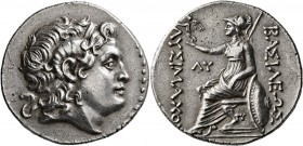 KINGS OF THRACE. Lysimachos, 305-281 BC. Tetradrachm (Silver, 31 mm, 16.67 g, 12 h), Byzantion, mid to late 3rd century BC. Diademed head of Alexander...