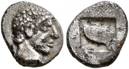 MACEDON. Skione. Circa 480-454/3 BC. Hemiobol (Silver, 7 mm, 0.31 g). Male head to right. Rev. Human eye within incuse square. AMNG III -. SNG ANS 710...