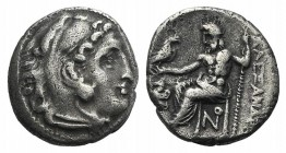 Kings of Macedon, Antigonos I Monophthalmos (Strategos of Asia, 320-306/5 BC, or king, 306/5-301 BC). AR Drachm (16mm, 3.97g, 12h). In the name and ty...
