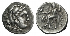 Kings of Macedon, Antigonos I Monophthalmos (Strategos of Asia, 320-306/5 BC, or king, 306/5-301 BC). AR Drachm (17mm, 4.25g, 9h). In the name and typ...