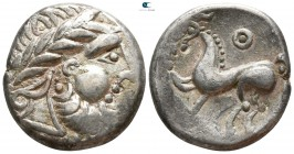 "Eastern Europe. Imitation of Philip II of Macedon circa 200-0 BC. Tetradrachm AR. ""Kugelwange"" type."