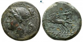 Bruttium. The Brettii circa 211-208 BC. Reduced Semuncia Æ