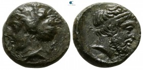 Sicily. Entella circa 420-404 BC. Trias Æ