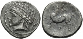 CELTIC, Central Europe. Noricum (East) . 2nd-1st century BC. Tetradrachm (Silver, 24 mm, 11.74 g, 10 h), Kugelreiter type, Southern Austria. Laureate ...