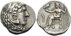 CELTIC, Asia. Late 4th or early 3rd century BC. Tetradrachm (Silver, 26 mm, 16.73 g, 9 h), an early imitation of a tetradrachm of Alexander III from D...