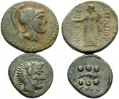 SICILY. (Bronze, 18.85 g). Lot of Two Bronze Coins. 1 . Panormos. AE, 27 mm, 12.22 g, 6h. SNG ANS 560 (same obv. die), SNG Munich 787. 2 . Solus. Hemi...