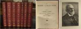 [Weber.] Forrer, L. Descriptive Catalogue of the Collection of Greek Coins Formed by Sir Hermann Weber M.D. 1823-1918. London, 1922–1929. Seven volume...